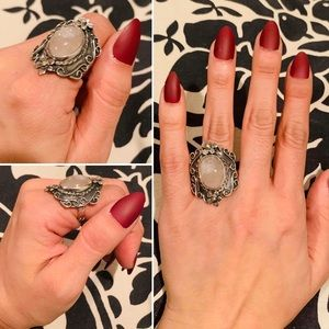 Taxco sterling Silver moonstone ring adjustable